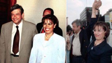 Rosario Robles con AMLO