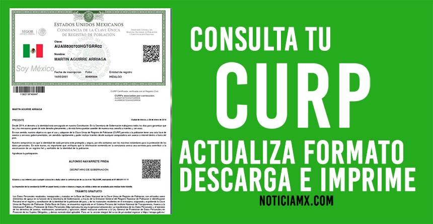 Consultar, imprimir y descargar la CURP