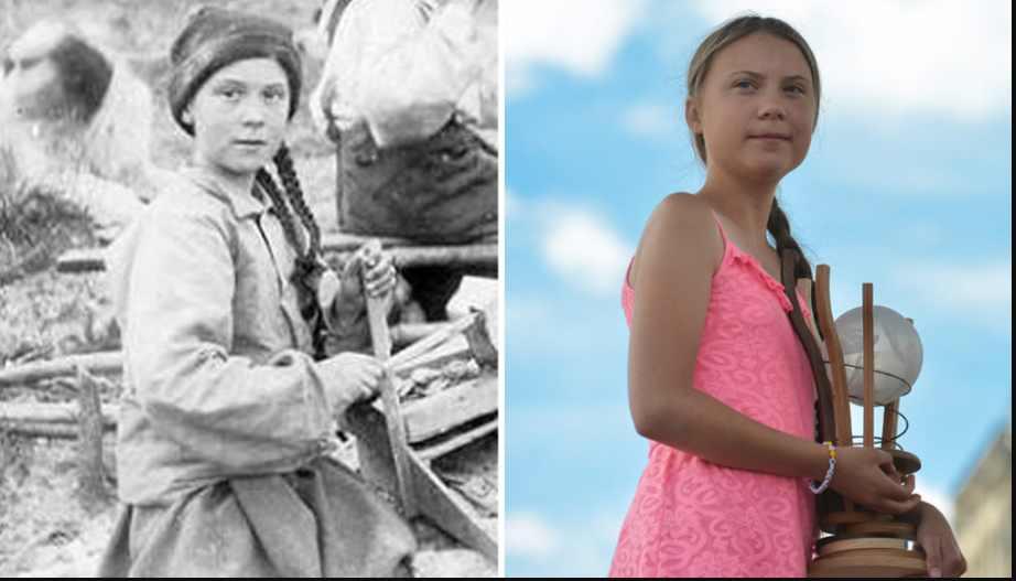 ¿Greta Thunberg viaja en el tiempo?, foto de 1898 causa polémica