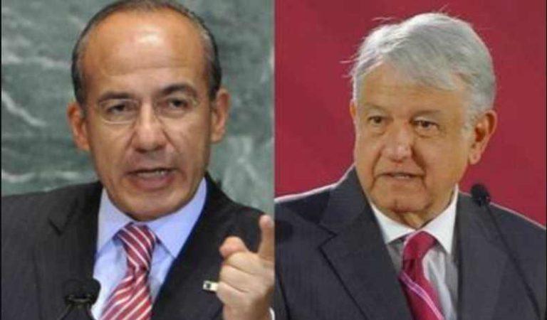 Calderón acusa a AMLO de poner apodos denigrantes: debemos rechazarlos