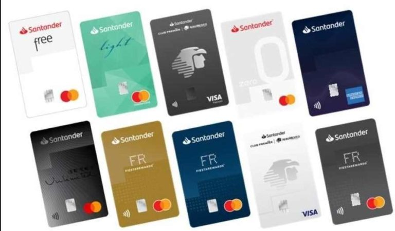 Tarjetas de crédito de Santander no tendrán números, para evitar robos o clonación