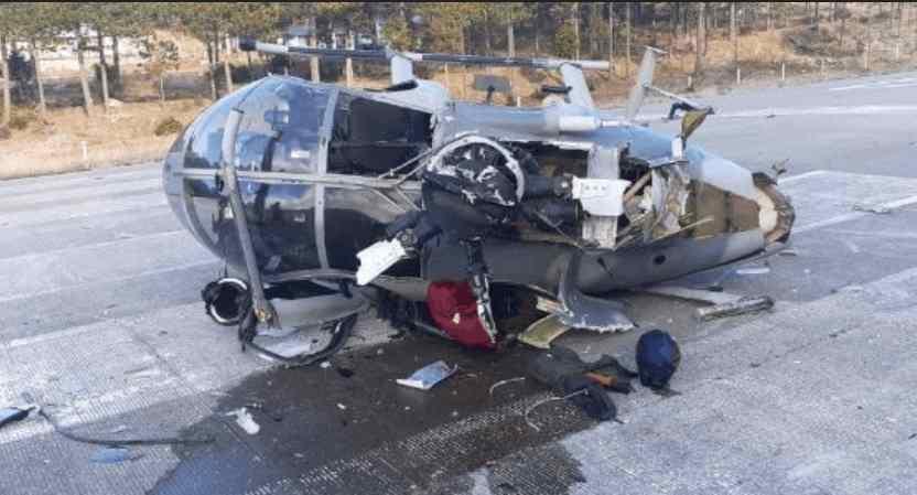 SEDENA reporta accidente de helicóptero, no hay lesionados
