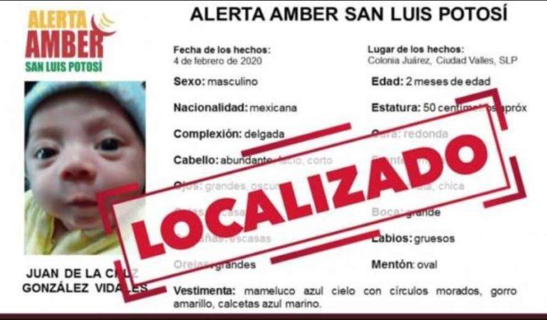 Encuentran con vida a 'Juanito', bebé que fue arrebatado a su madre en SLP