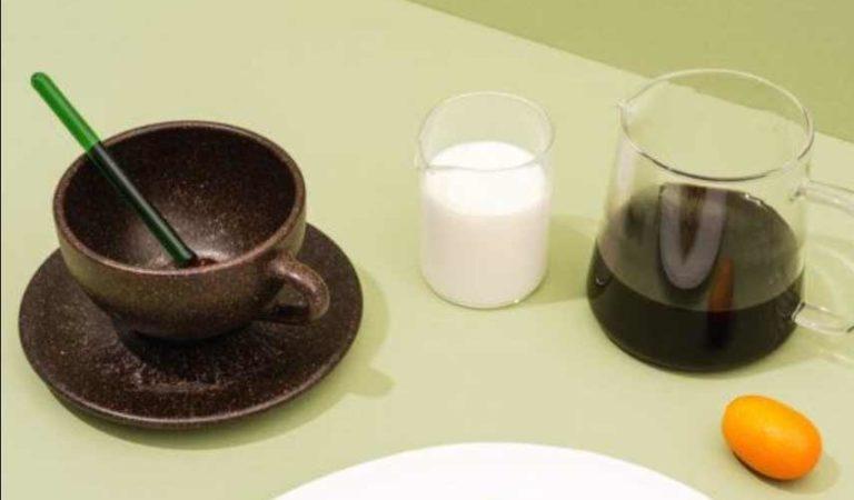 Tazas hechas con residuos de café