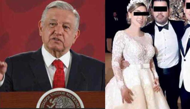 AMLO responde por boda de hija del Chapo