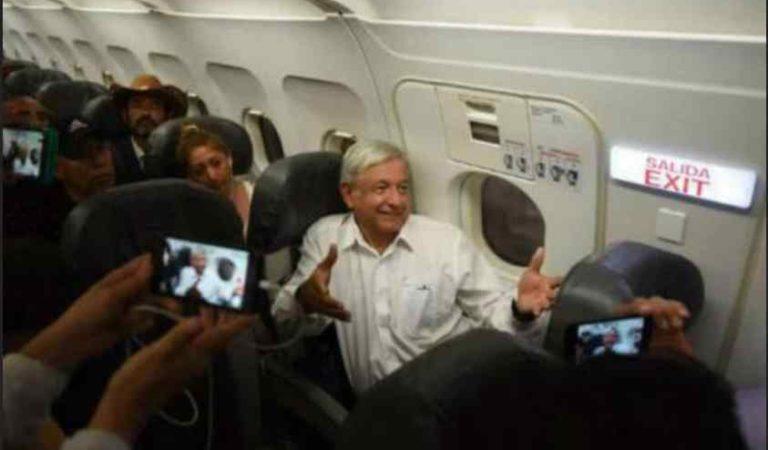AMLO ahorra millones de pesos al viajar en vuelos comerciales