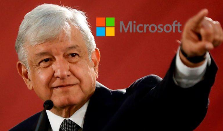 Microsoft  apoya a AMLO: invertirá 1,100 millones de dólares en México