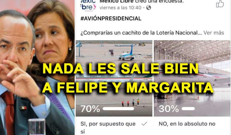 México Libre lanza encuesta sobre avión presidencial y todo sale mal