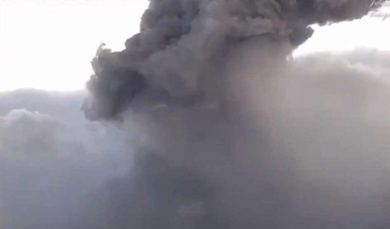 Estruendo alerta a pobladores luego de la explosión del Popocatépetl