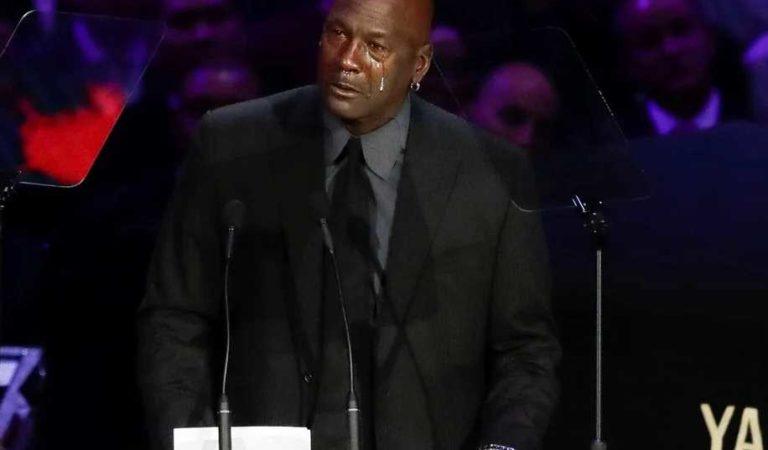 Michael Jordan conmueve por lagrimas en homenaje a Kobe Bryant