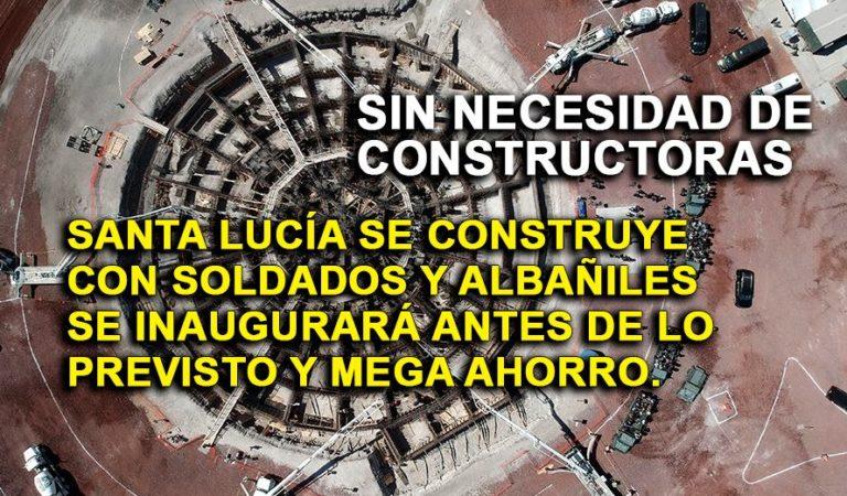 Espectaculares imágenes del Aeropuerto de Santa Lucía; construido por Ejército