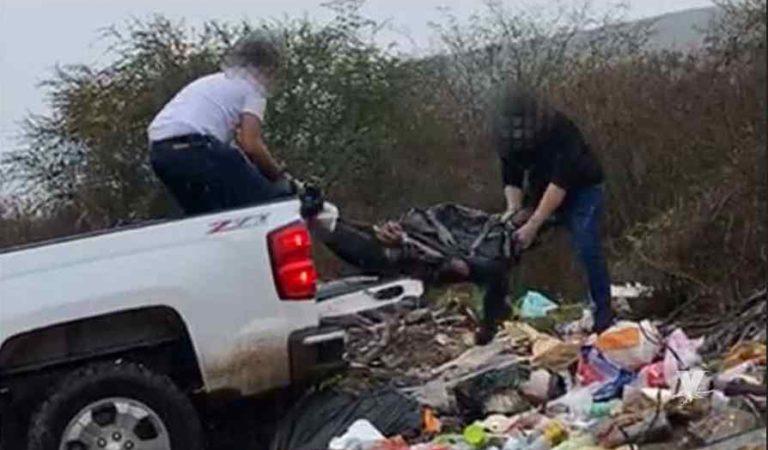 Captan a sicarios deshaciéndose de cadáver en basurero