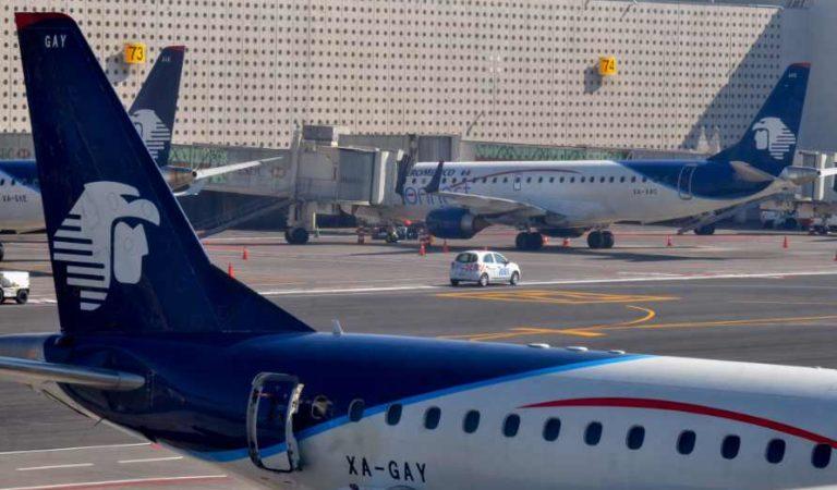 AICM reporta más de 2 mil vuelos cancelados esta semana ante contingencia por COVID-19