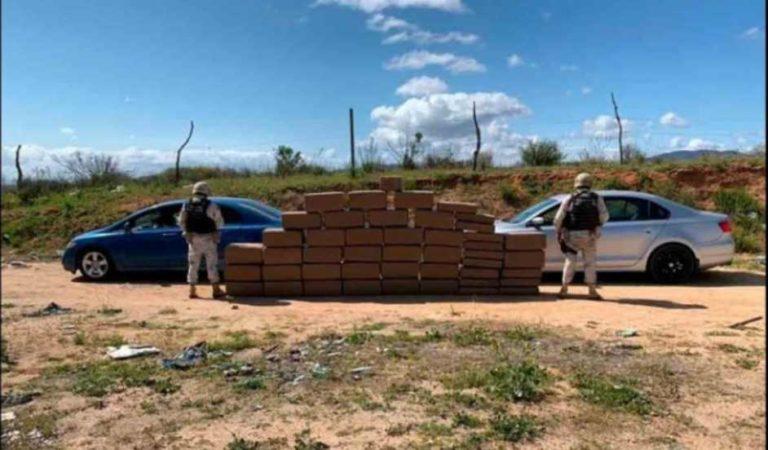 Ejército mexicano asegura 400 kilos de mariguana en Baja California