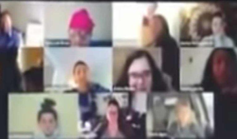 Joven pasa la vergüenza de su vida, cuando va al baño en plena videoconferencia de trabajo | VIDEO