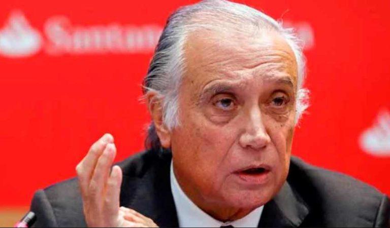 Muere presidente de Banco Santander por Covid-19