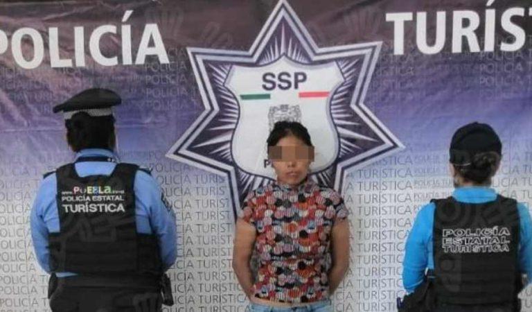 Mujer amarró y abandonó a su hija de 1 año 6 meses en un parque de Puebla; ya fue detenida