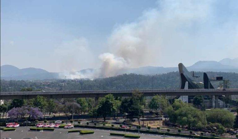Usuarios reportan incendio en Tlalpan
