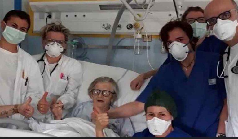 Abuelita de 95 años se cura completamente del Coronavirus en Italia