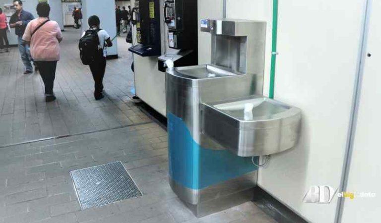 Los bebederos del Metro representan una fuente potencial de transmisión