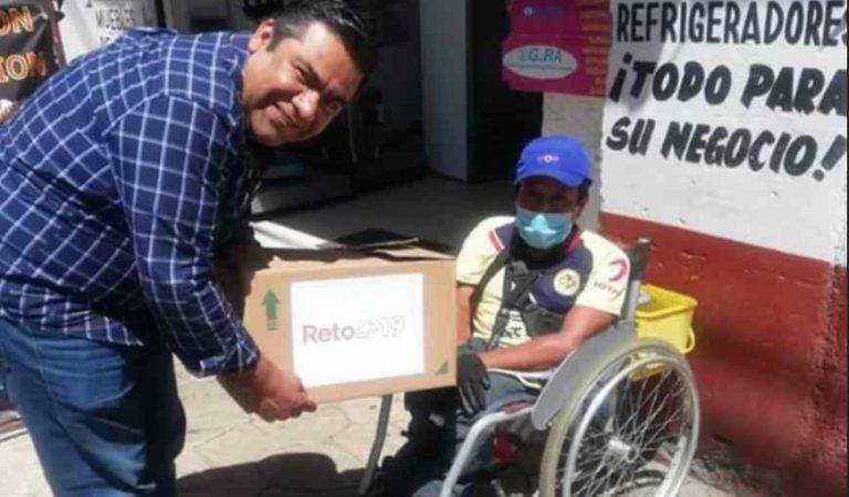 Diputado de Morena reta a funcionarios a donar despensas ante covid-19