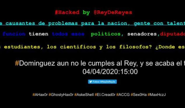 Hackean página web de la Secretaría de Salud de Querétaro con un mensaje al gobernador