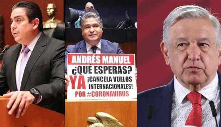 Senadores del PAN piden a AMLO cerrar la frontera por tierra y aire