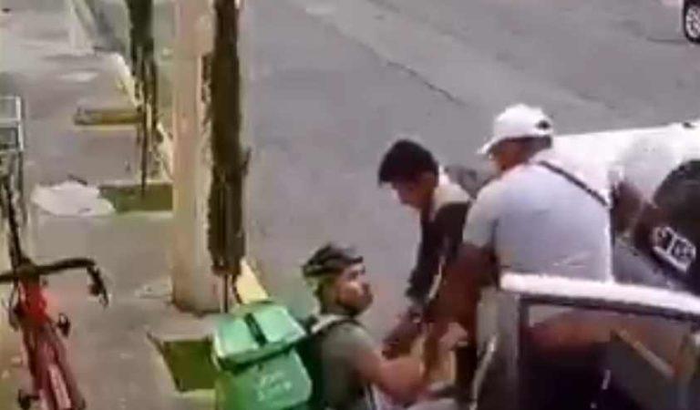 Asaltan a repartidor de Uber Eats en Toluca; ya fueron detenidos | VIDEO