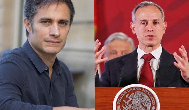 Gael García agradece a López-Gatell por su trabajo en la lucha contra el coronavirus