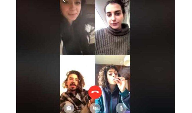 Jóvenes en cuarentena se pasan 'el churro' por videollamada | VIDEO