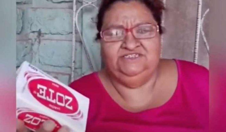 Falleció #LadyZote de diabetes, dijo que el jabón era para perros