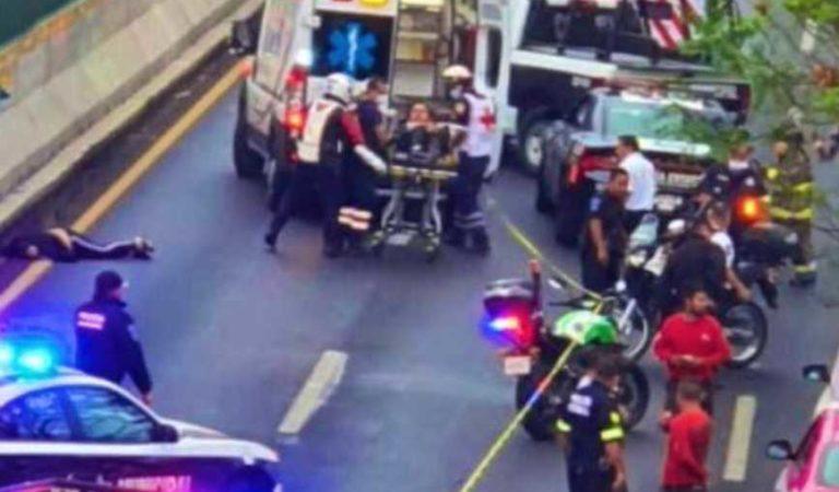 Balacera en periférico Norte; 1 muerto y 2 heridos