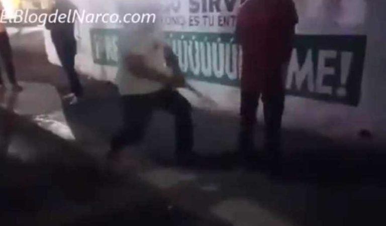 A 'levantones y tablazos'; narco y policías imponen medidas ante COVID-19   VIDEO
