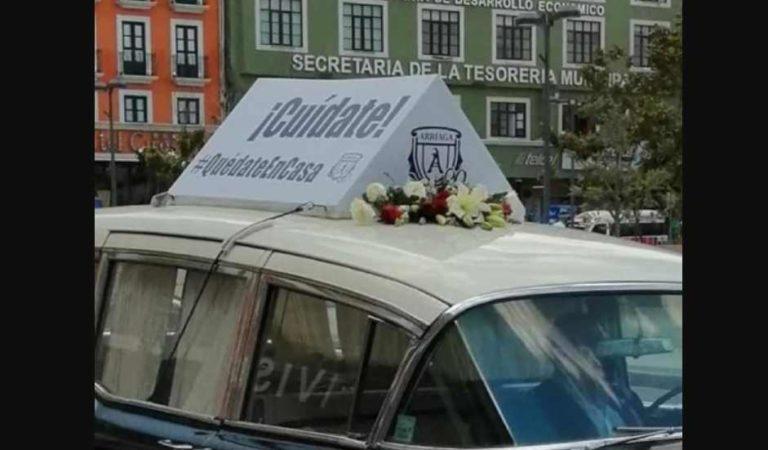 'Cuídate, Quédate en casa': Carrozas fúnebres, desfilan y llaman a quedarse en casa