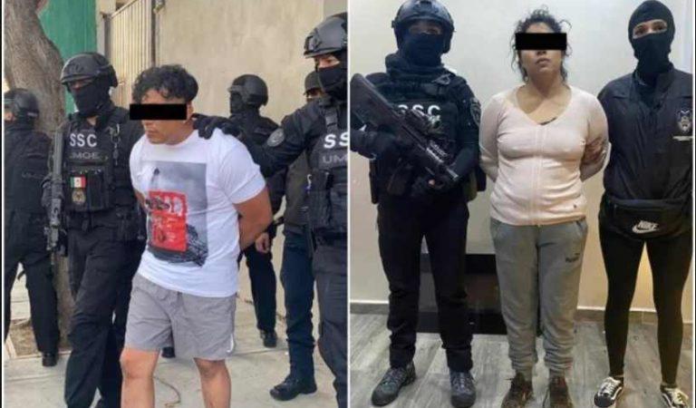Detienen por segunda vez a 'La negra' y 'El cindy', presuntos miembros del Cártel de Tláhuac