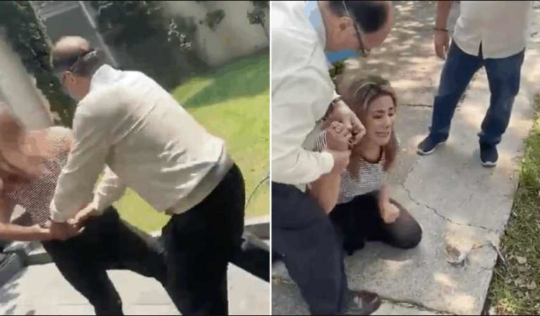 Exfuncionario agrede y amenaza a su esposa en Edomex | VIDEO
