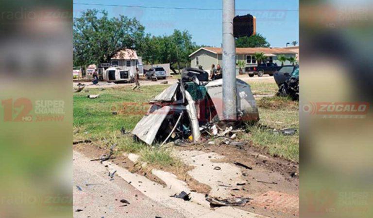 Muere mexicano tras brutal accidente automovilístico en EU; auto quedó partido en dos
