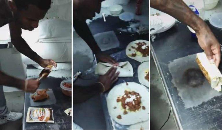 Reo condenado a cadena perpetua se vuelve famoso en TikTok; cocina en su cama de metal