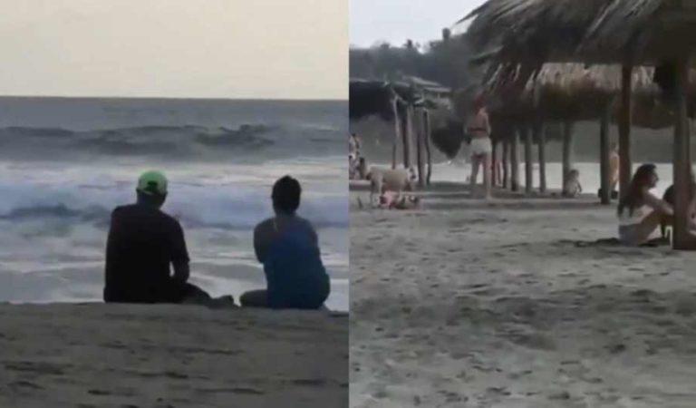 Turistas son captados en playas de Oaxaca pese a emergencia sanitaria | VIDEO