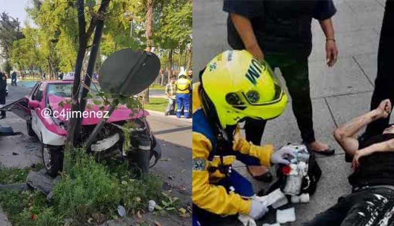 Asalta a taxista y acaba con la pierna destrozada  IMÁGENES FUERTES