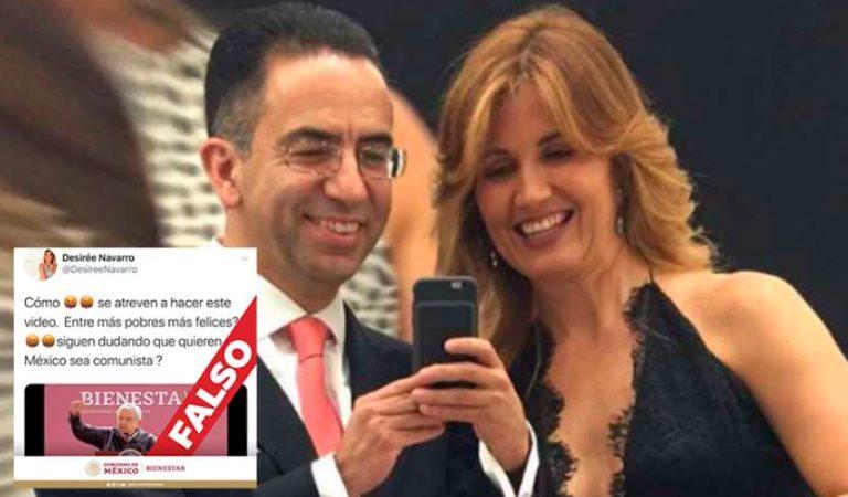 Desirée Navarro, ex novia de Javier Lozano difunde video falso contra AMLO