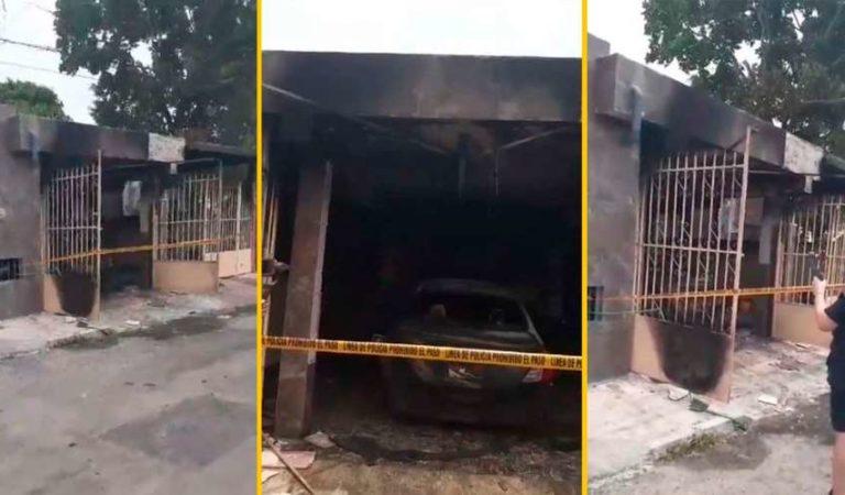 Rociaron con gasolina e incendian casa y auto de enfermera que atiende a pacientes con Covid19; la amenazan por teléfono