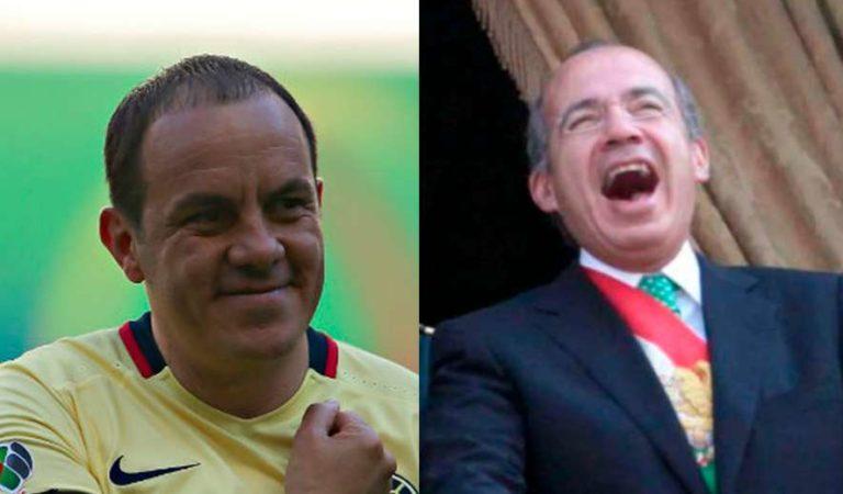 Calderón aprovechó gol de Cuauhtémoc Blanco para extinguir Luz y Fuerza