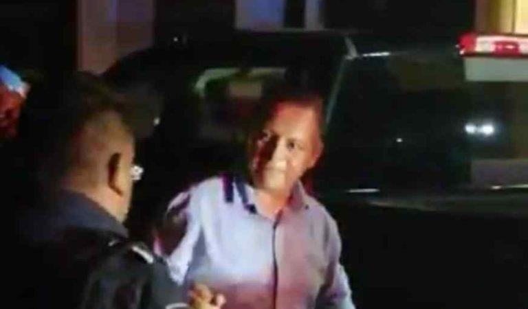 Detienen en estado de ebriedad a regidor panista en Tulancingo (video)
