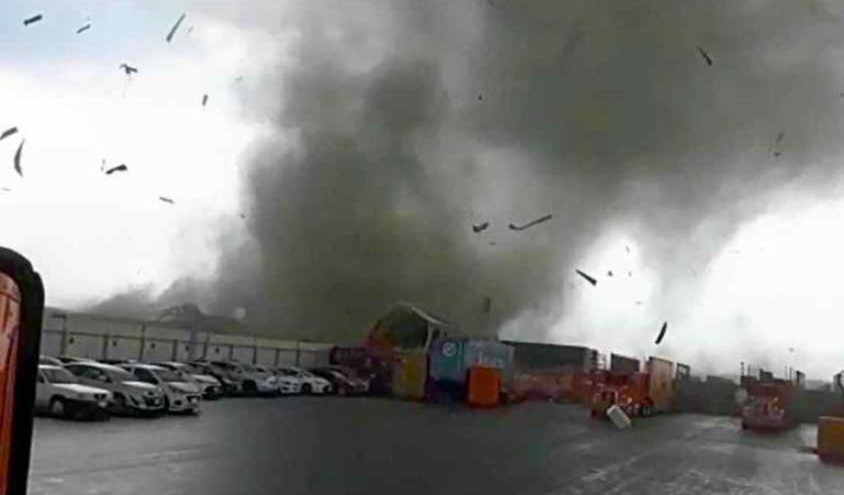 Tornado, granizo y tormentas eléctricas sorprenden en Nuevo León; 2 muertos (video)