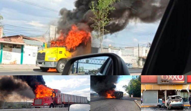 Celaya: Bloqueos e incendios en distintos puntos  y municipios aledaños | IMÁGENES FUERTES