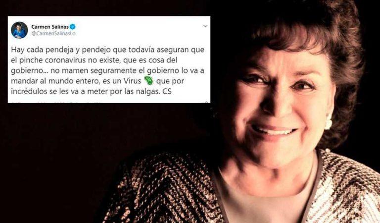 Carmen Salinas enfurece contra quienes no creen el Coronavirus: 'Hay cada pendej0'
