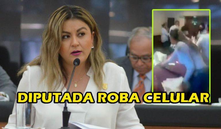 Diputada Daniela Rubio, roba celular a compañera en un descuido en BCS | VIDEO