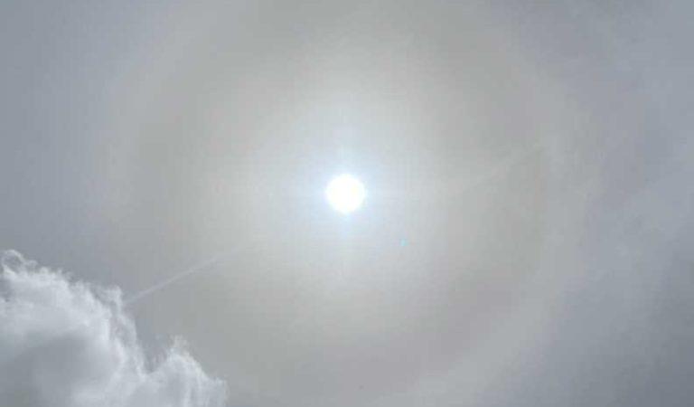 Tras sismo, aparece halo solar sorprende en México
