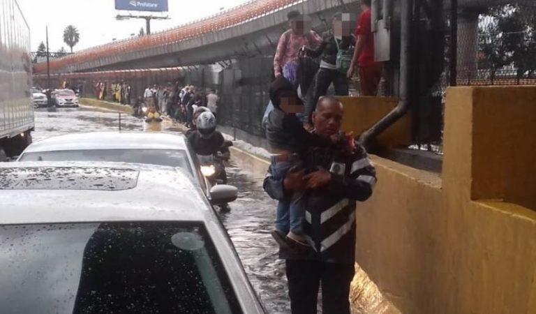 Circuito Interior y otras zonas afectadas por la lluvia en CDMX | IMÁGENES